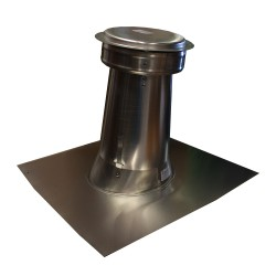 "4"" Round Aluminum Roof Safe Vent with Cap"