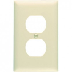 Ivory 1 Gang 1 Duplex Outlet Opening Nylon Wall Plate