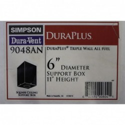 6in Diameter x 11in height Support Box with Star Section