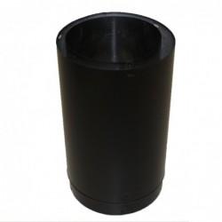Dura Pipe Connector 6x12 Adjustable Black