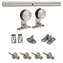 Stainless Steel Decorative Interior Sliding Door Hardware Kit