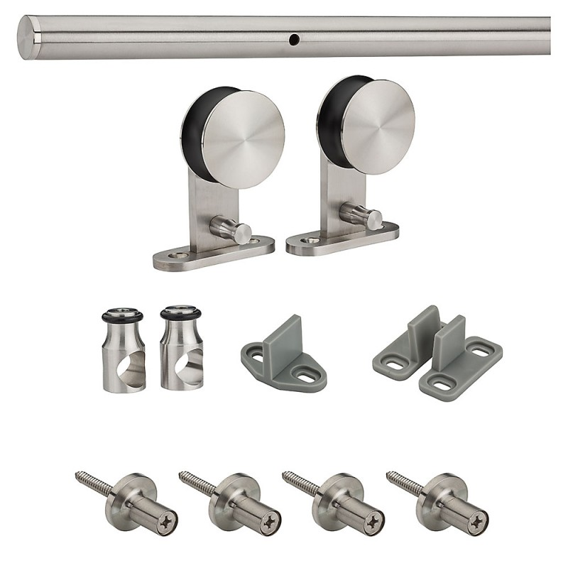 Stainless steel decorative interior sliding door hardware kit close lumber corning lumber for Decorative interior door knobs