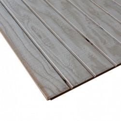 4X8 5/8in SELECT DOUGLAS FIR 4in ON CENTER REVERSE BATTEN RESAWN SIDING