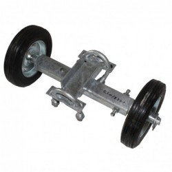 6in Industrial Double-Wheel Carrier for 1-5/8in or 1-7/8in Frame