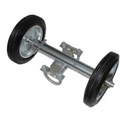 8in Industrial Double-Wheel Carrier Assembly for 1-5/8in or 1-7/8in Frame