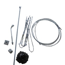 Guy Wire Line Kit for 30-ft Pole with 6-ft Anchor Rod