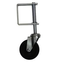 11-in Medium Duty Spring Loaded Zinc 3-7/8in Gate Wheel with fasteners