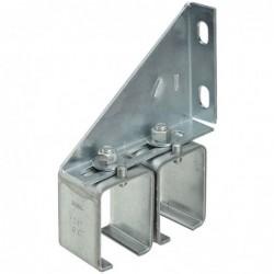 Double Box Rail Splice Brackets for Barn Door