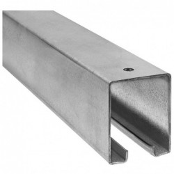 8-ft Galvanized Box Trolley Rail for Barn Door
