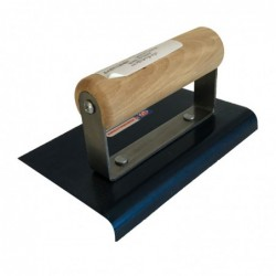 "6"" x 4"" Hand Edger 3/8"" radius 1/2"" lip length Wood Handle"