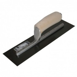 "12"" x 3"" Finishing Trowel with Curved Wood Handle"