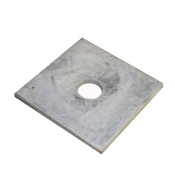 "3"" x 3"" x 1/2"" Galvanized Square Washer Plate"