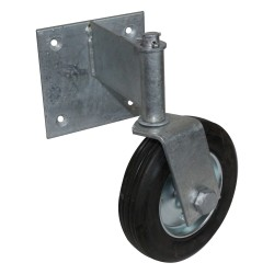 Flat-back Swivel 6in Wheel for Swing Gate
