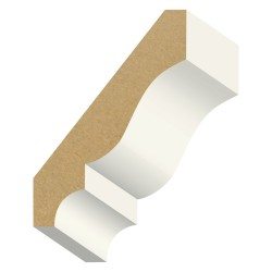 Kelleher 5/8x3-5/8in Primed MDF Crown