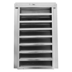 Vulcan 14in x 24in Fire Resistant Attic Gable Galvanized Vent - VG1424S
