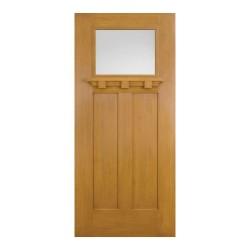 Heritage Craftsman Lite Fiberglass Exterior Door - Fir Texture