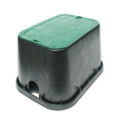 12-in x 17-in Black Valve Box with Green Cover