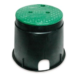 10in Round Irrigation Control Valve Box with Green Cover
