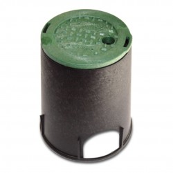 6in Round Irrigation Control Valve Box with Green Cover