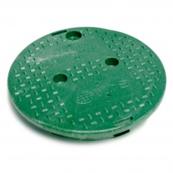 10in Round Green Irrigation Valve Box Replacement Cover