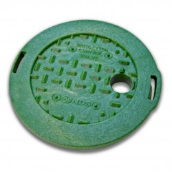 6in Round Green Irrigation Control Valve Cover