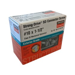 100PK Number 10x1-1/2in (1.5in) Strong Drive SD Connector Screws