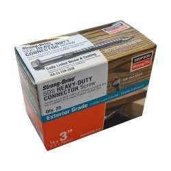 """25PK 1/4x1-1/2in (0.25x1.5"""") SDS Heavy Duty Connector Strong-Drive Screw"""
